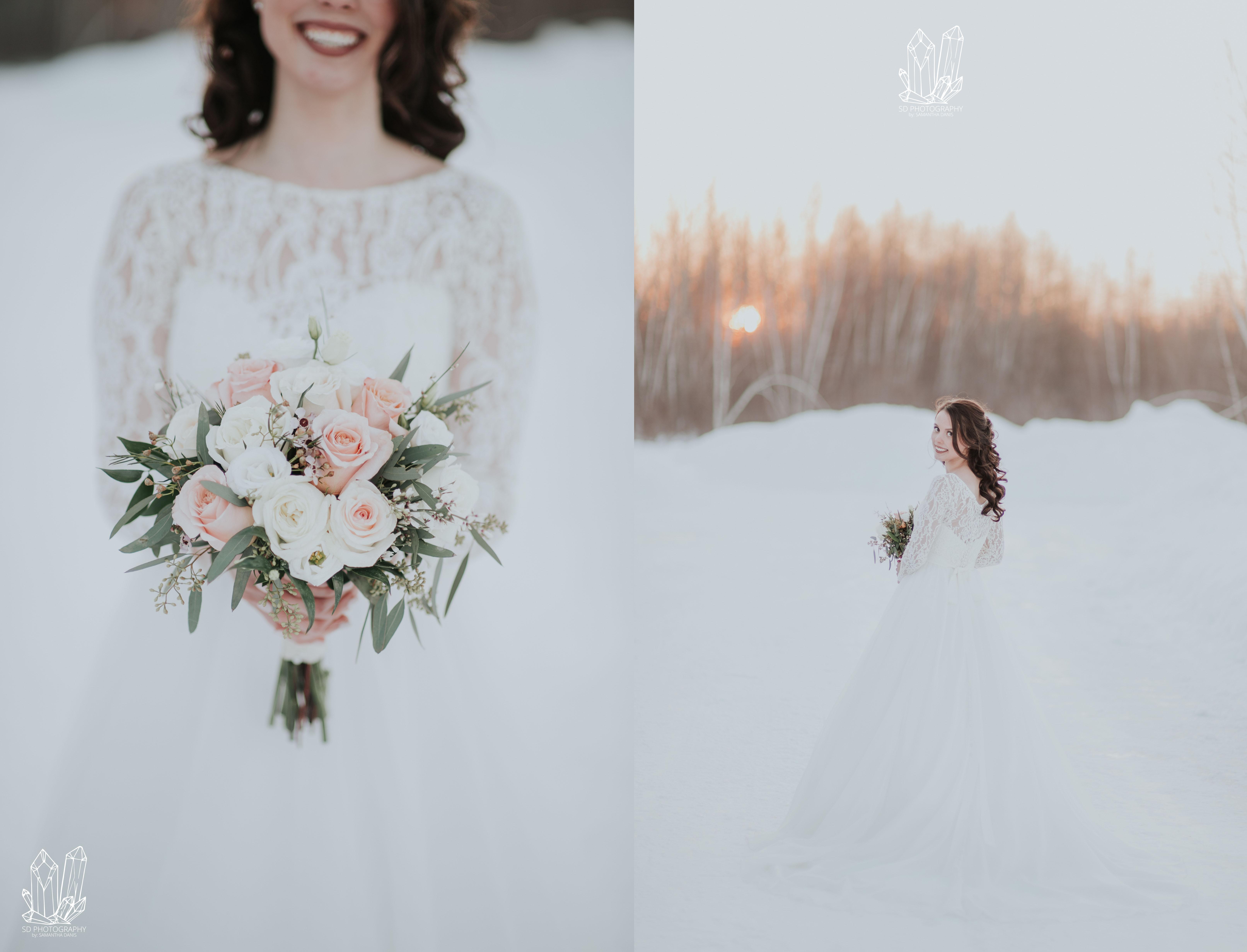 Amelia & Aaron: Winter Wedding - Samantha Danis Photography